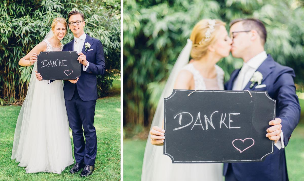 Dankesschild Hochzeit