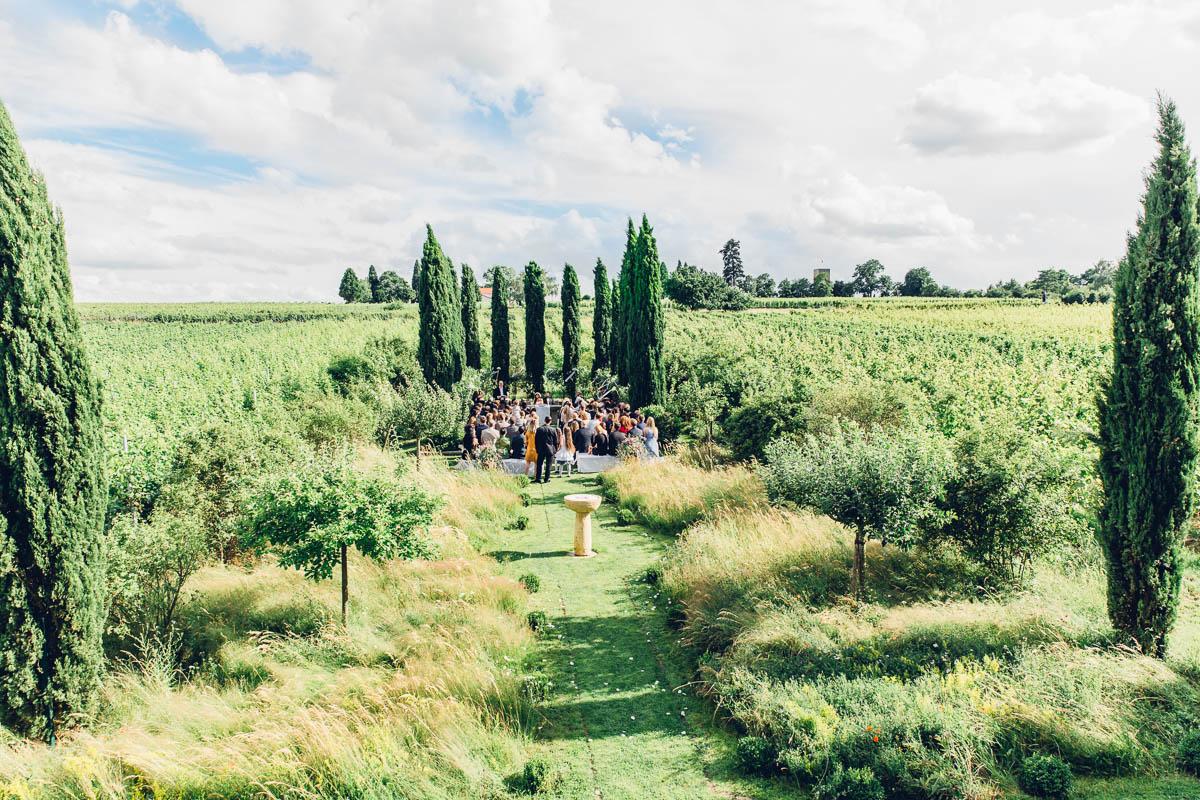 Hochzeit in Weinbergen