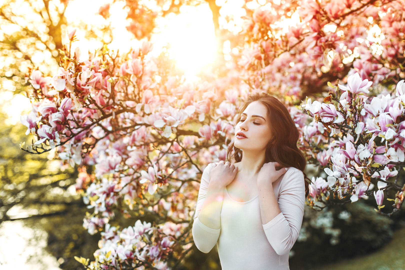 Magnolie Fotoshooting