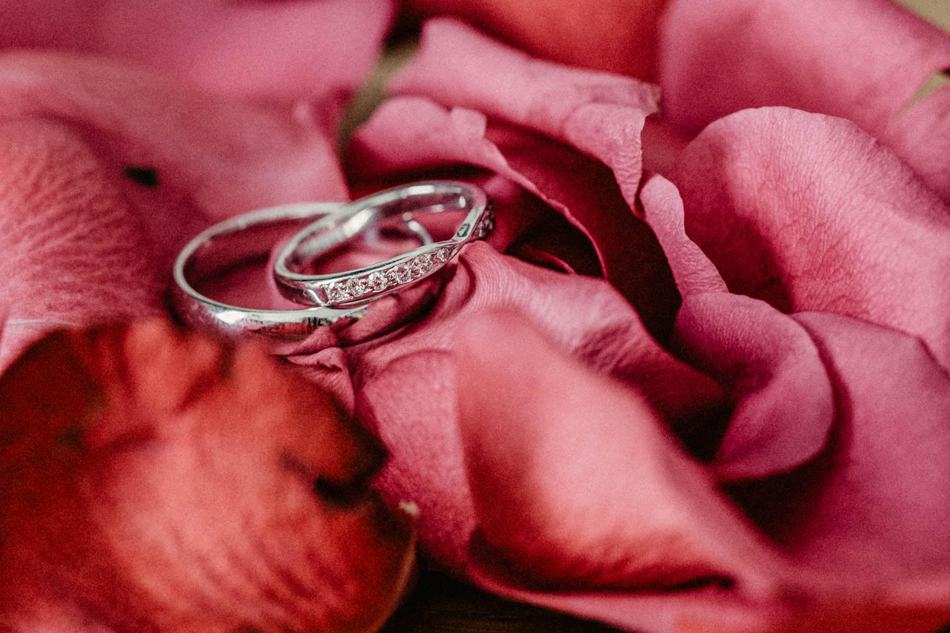 Makroaufnahme Hochzeit