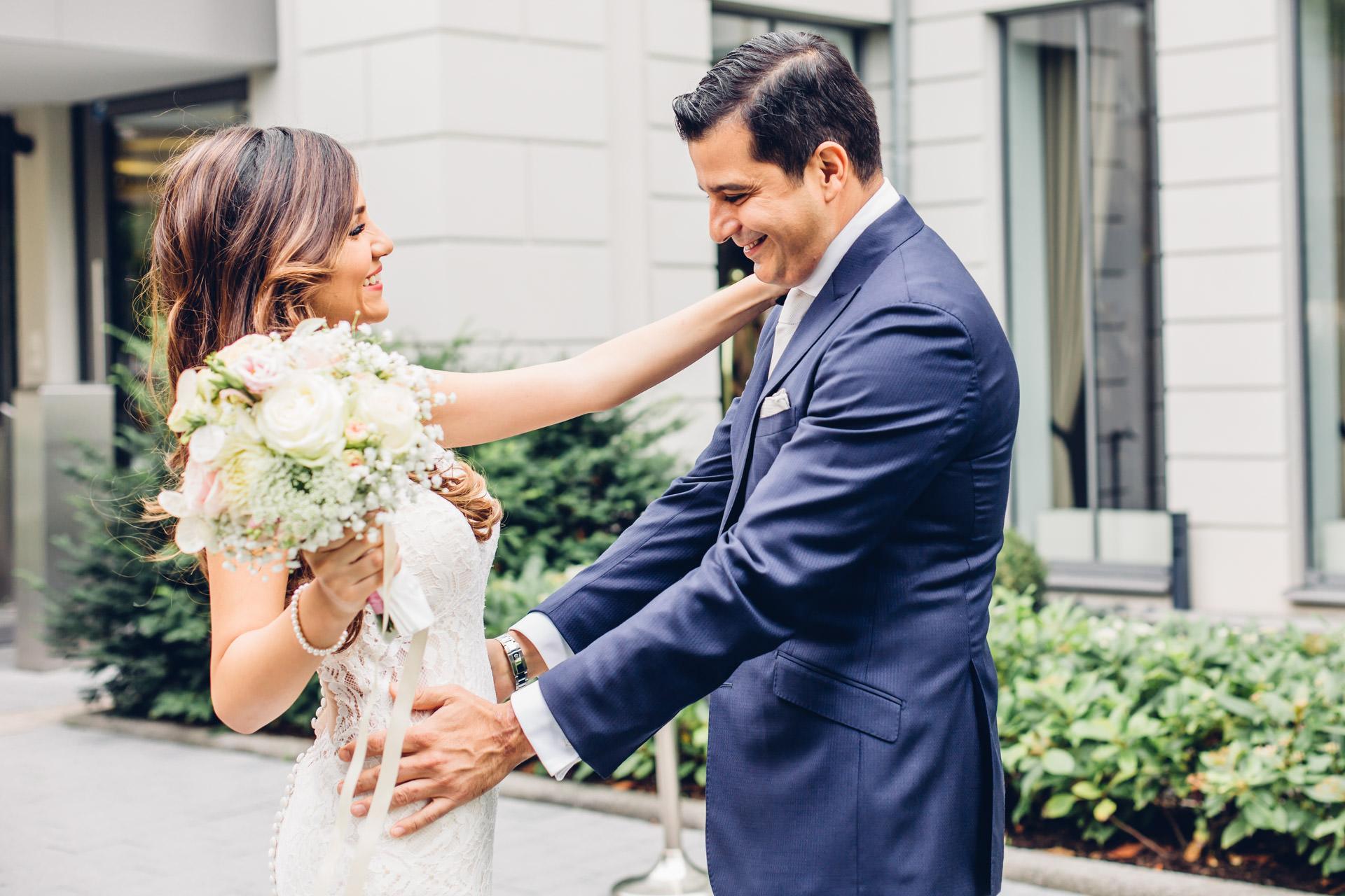 First Look vor der Hochzeit