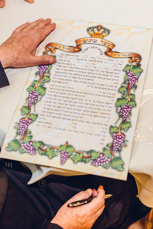 Jüdische Trauung Vertrag