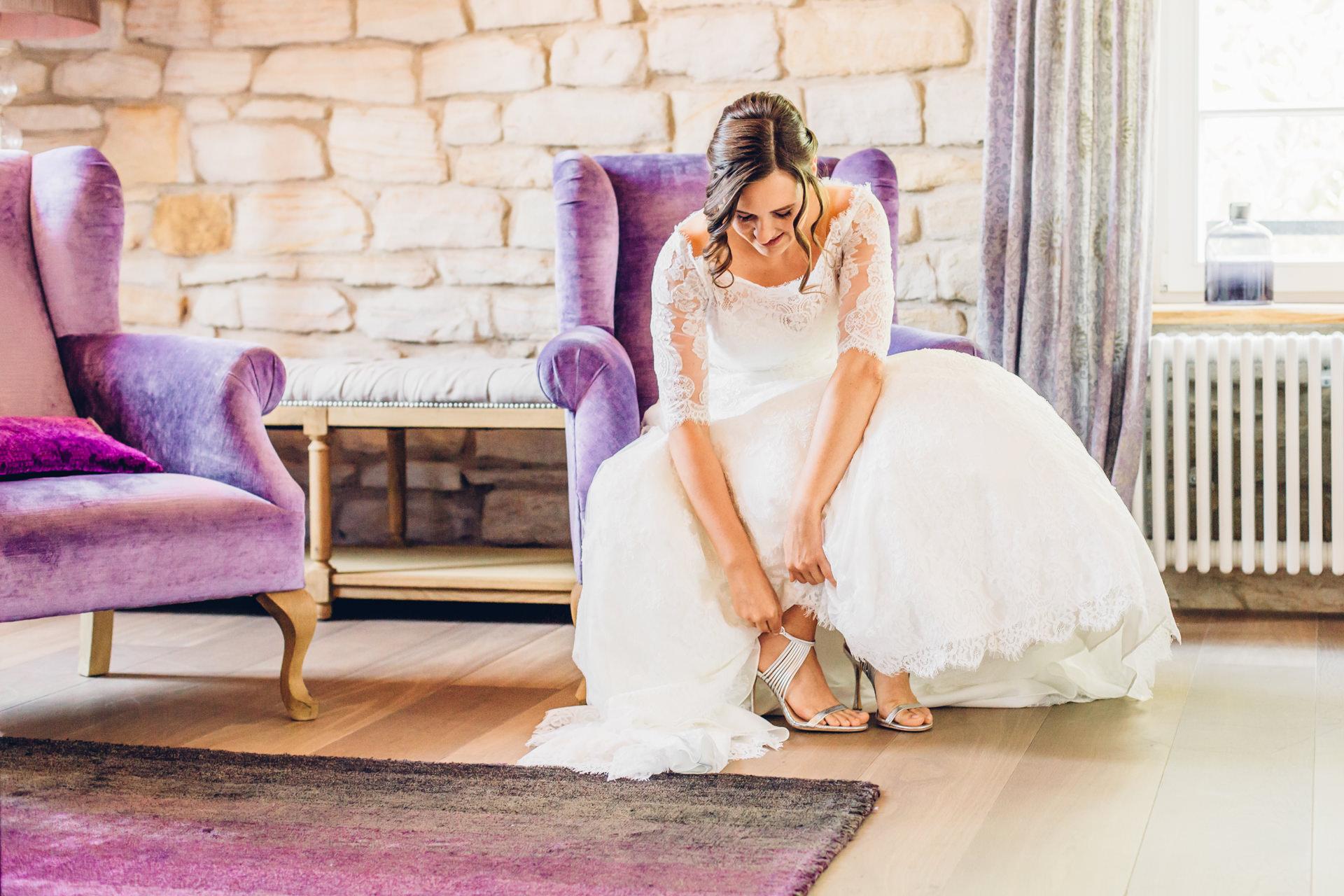 Braut in der Suite im Weingut am Nil