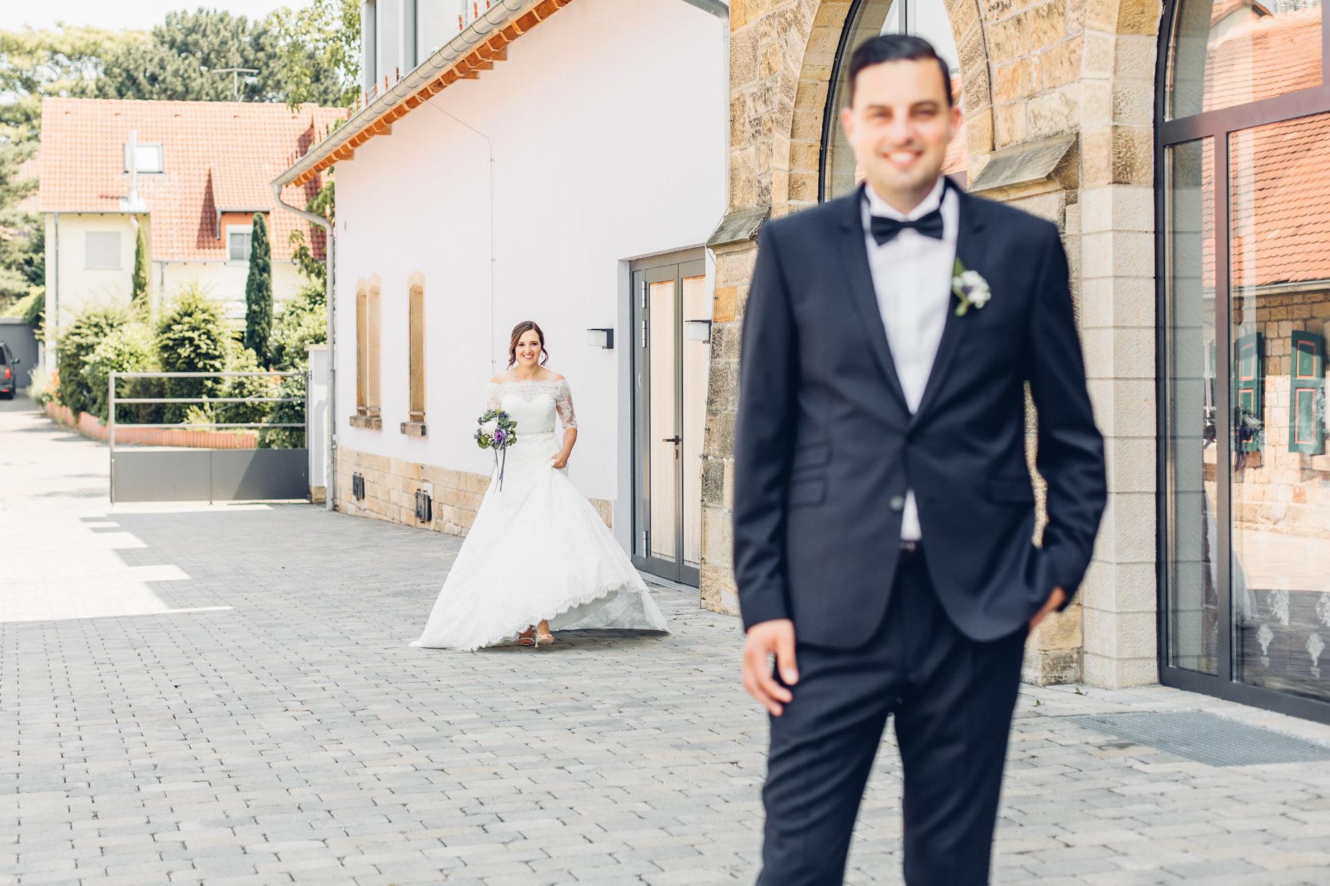 First Look Braut und Bräutigam