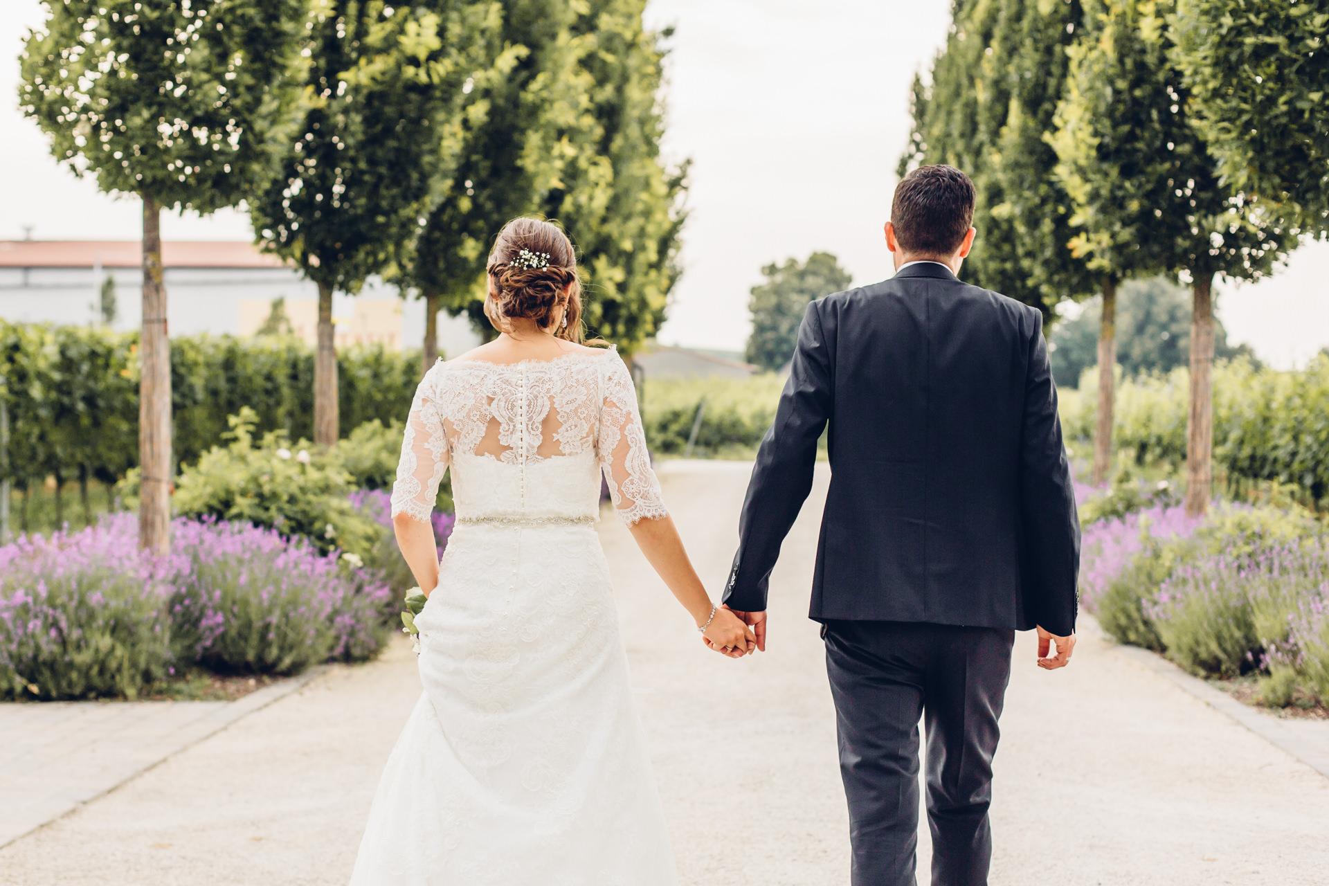 Hochzeit feiern in Weinbergen in der Pfalz