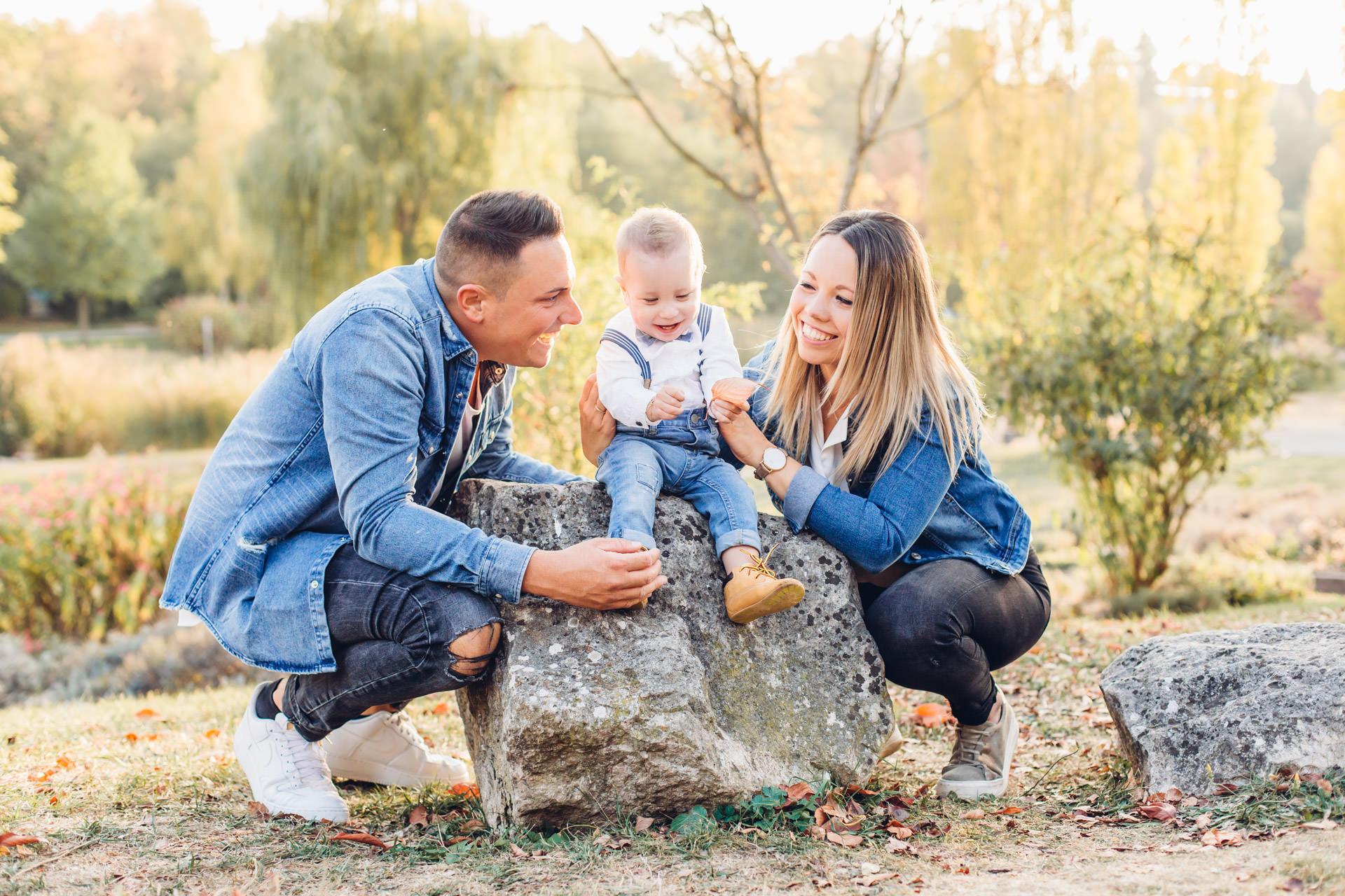 Familienfotos zum ersten Geburtstag im Strecktalpark in Pirmasens
