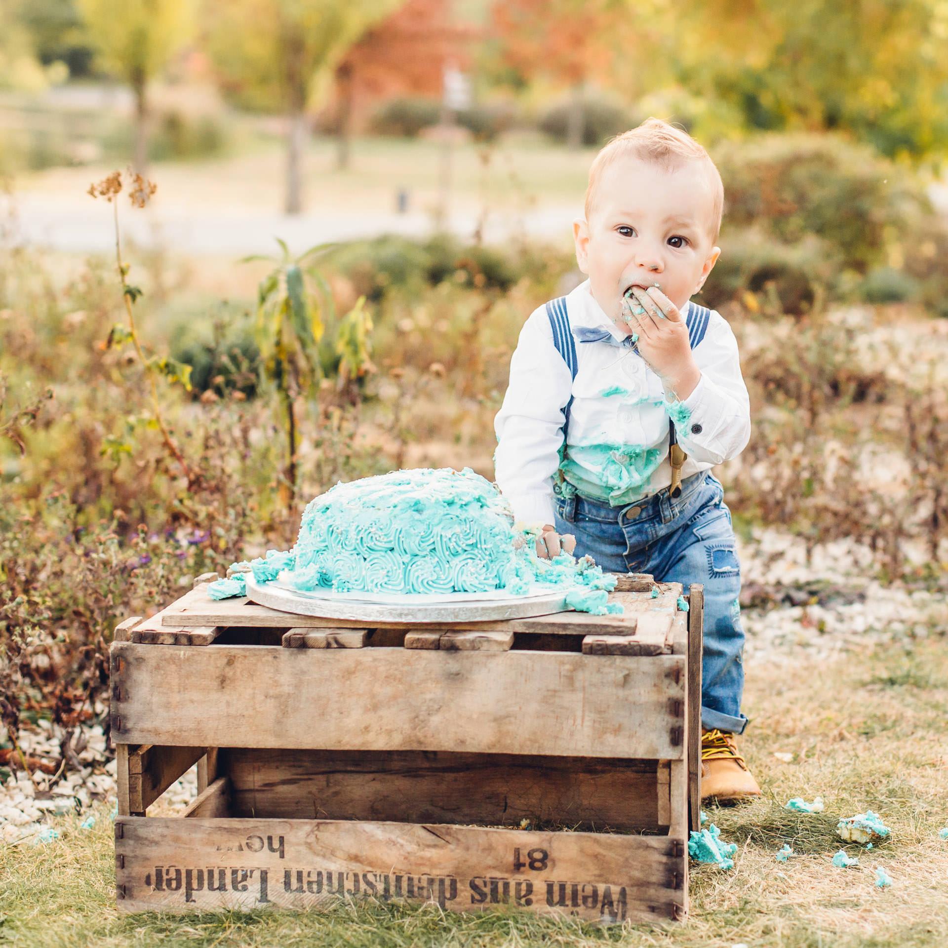 Fotoshooting zum ersten Geburtstag