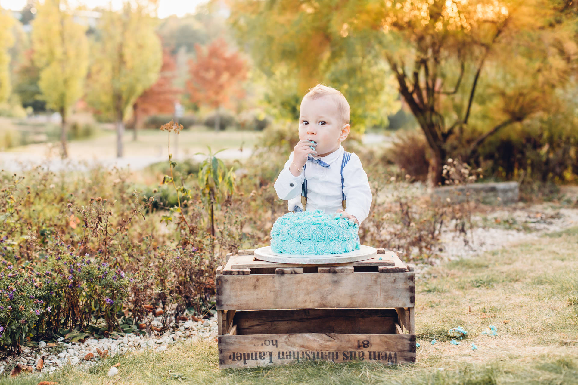Fotoshooting zum 1. Geburtstag mit Torte