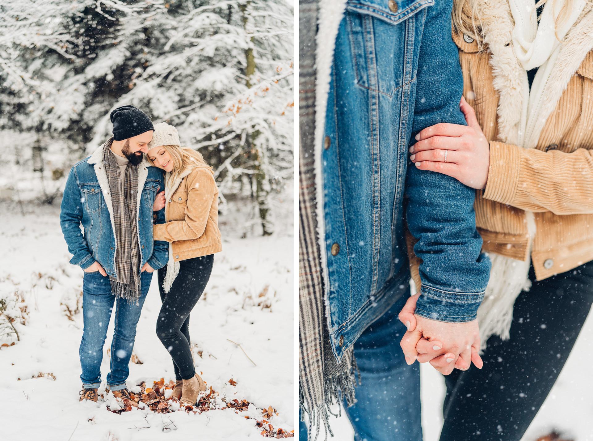 Paarfotoshooting im Schnee