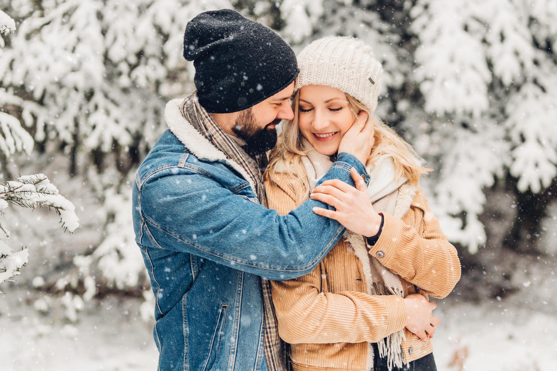 Verliebt und verlobt im Schnee, Pärchenshooting