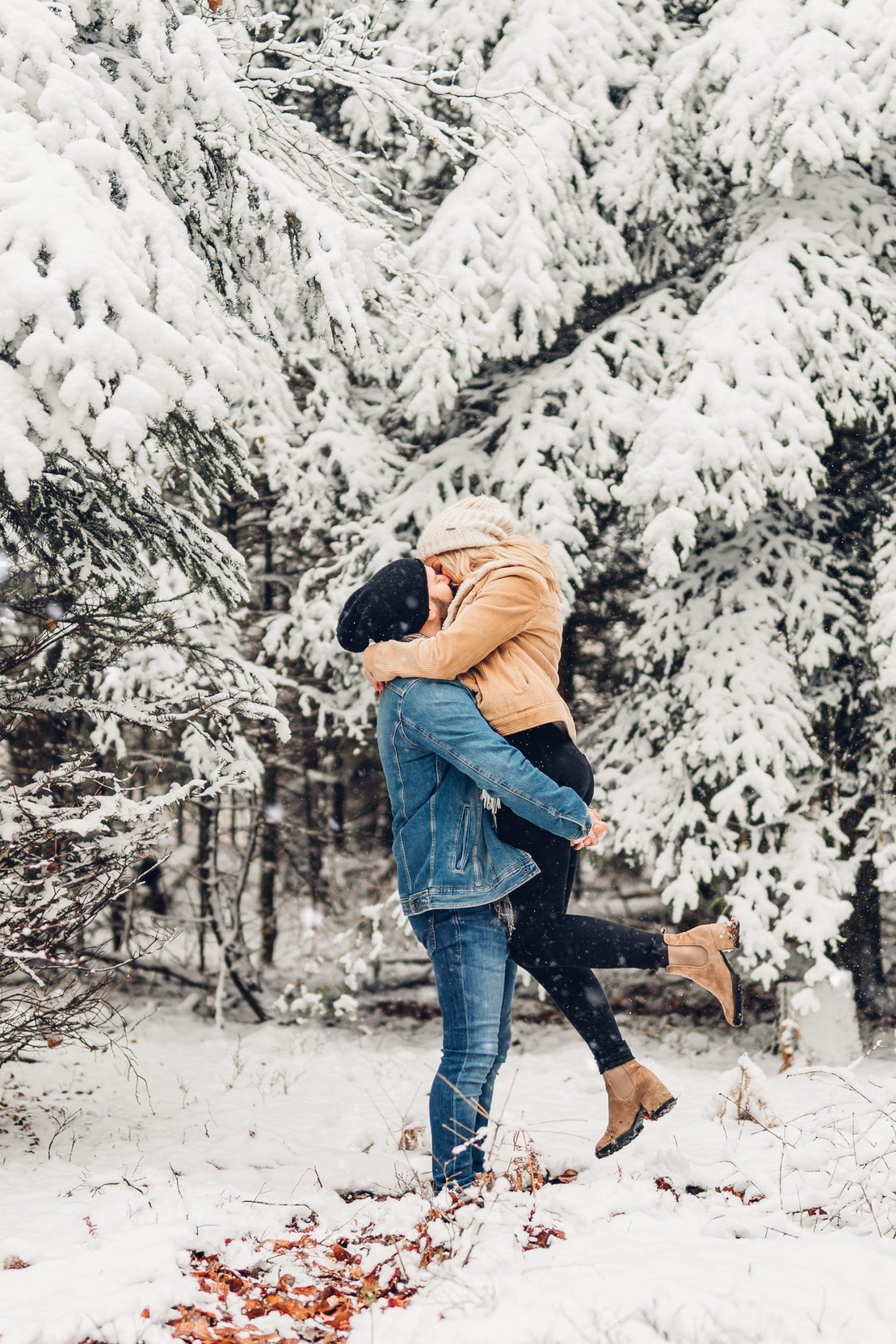 Couplephotoshooting, Snowshooting