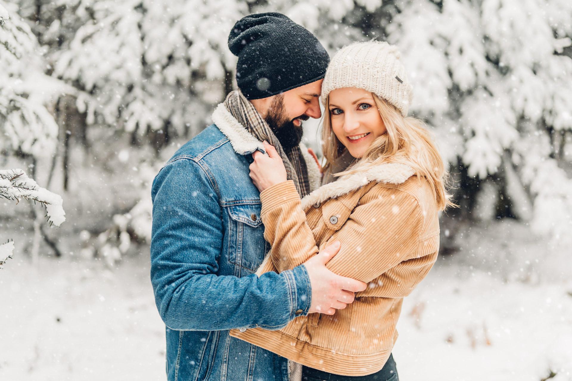 Snow Couple Shooting, Engagementshooting