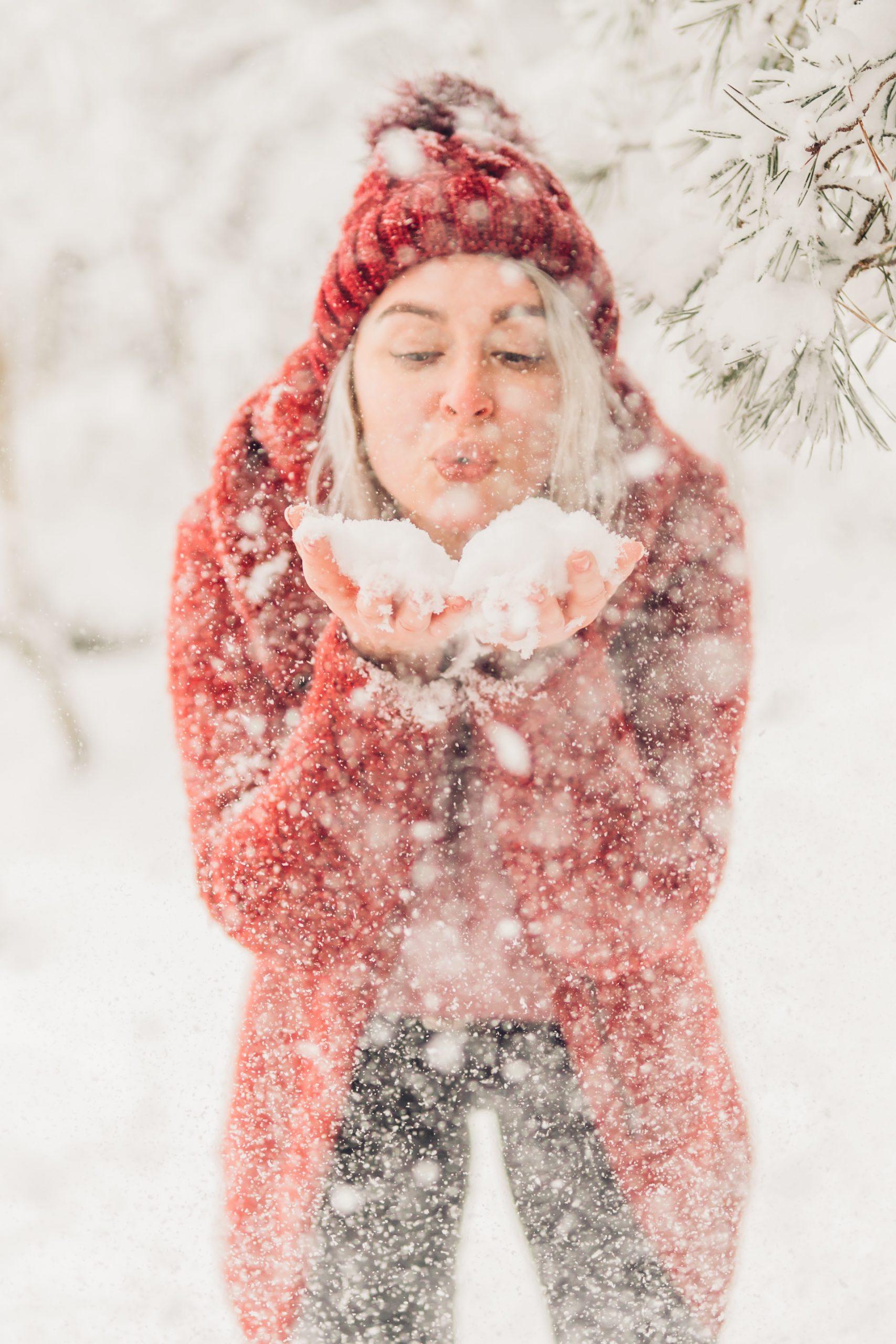 Wintershooting Portrait im Schnee