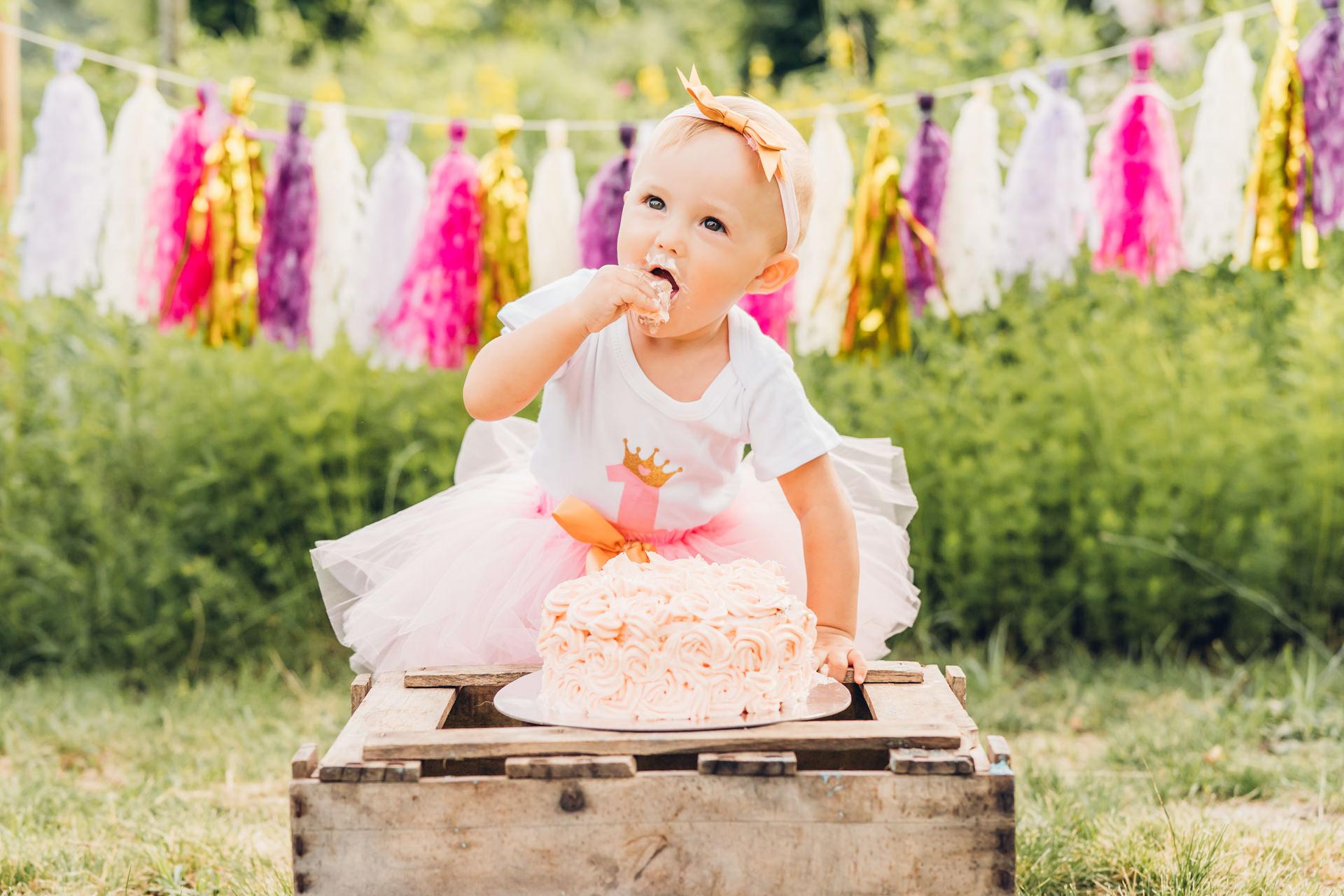 Cake Smash Shooting zum ersten Geburtstag Fotograf Speyer